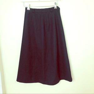 VTG Saks Fifth Ave Evan Picone Wool ALine Skirt